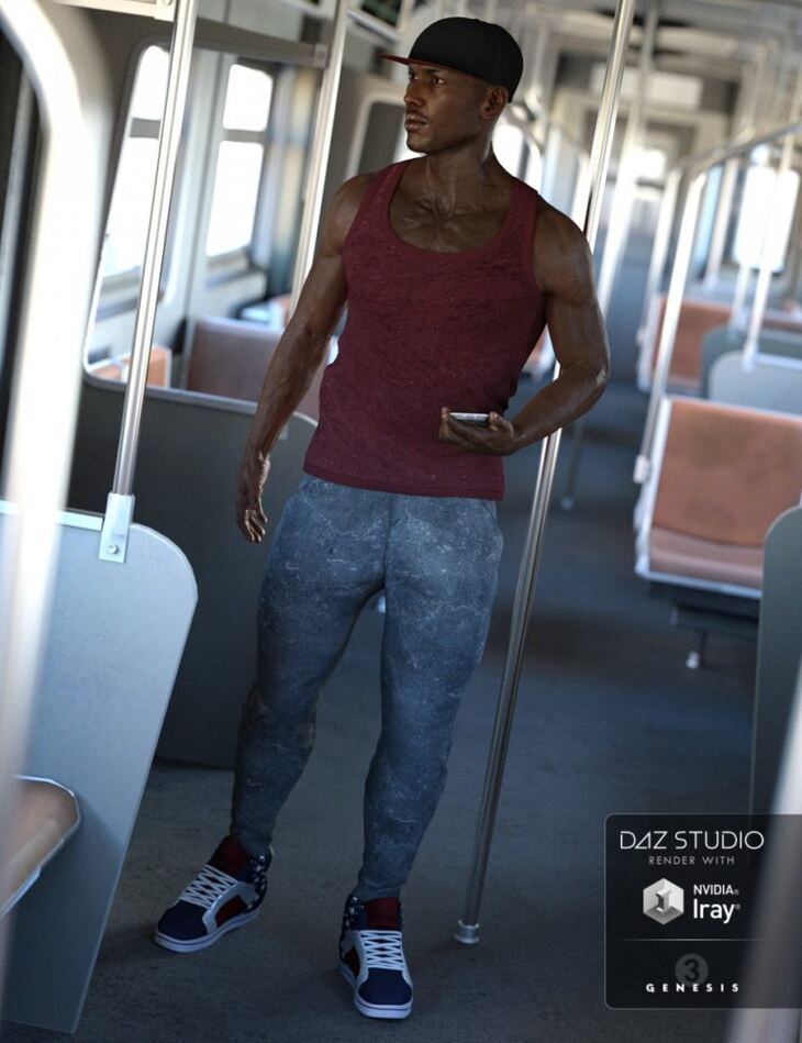 Hip Hop Outfit for Genesis 3 Male(s)