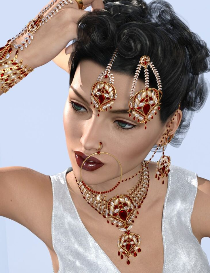 Indian Jewels for Genesis 3 and 8 Female(s)
