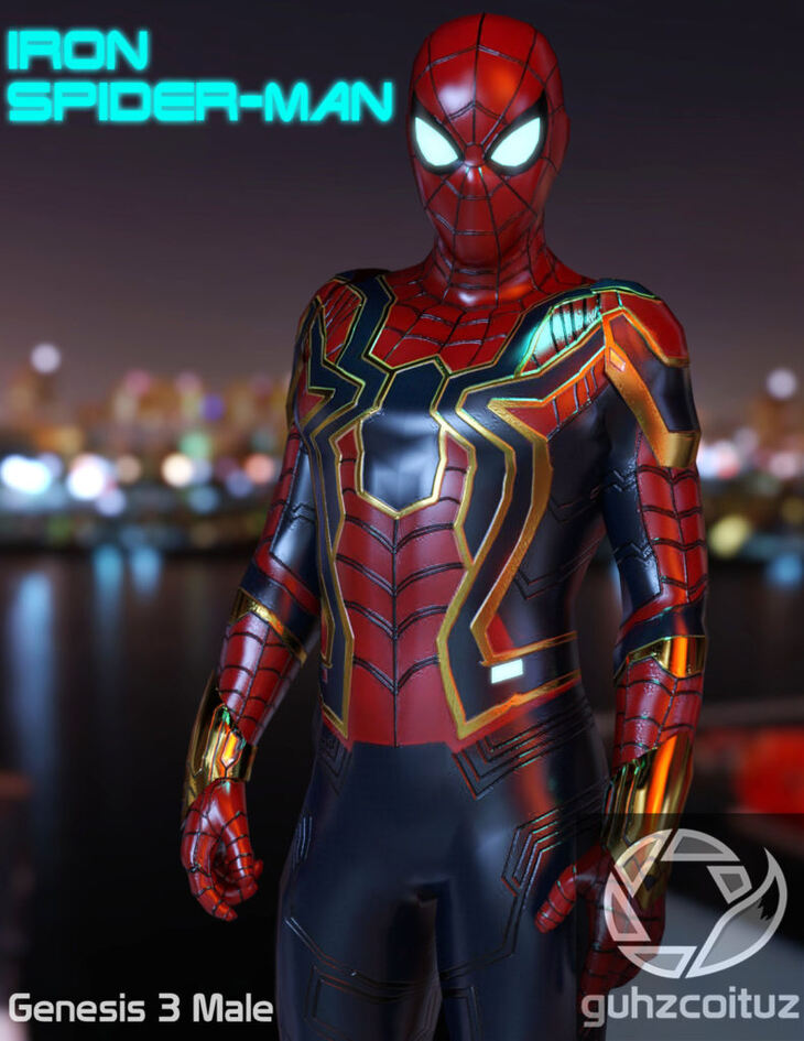 Iron Spiderman for Genesis 3 Male