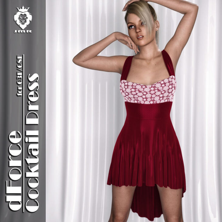 JMR dForce Cocktail Dress for G3F and G8F
