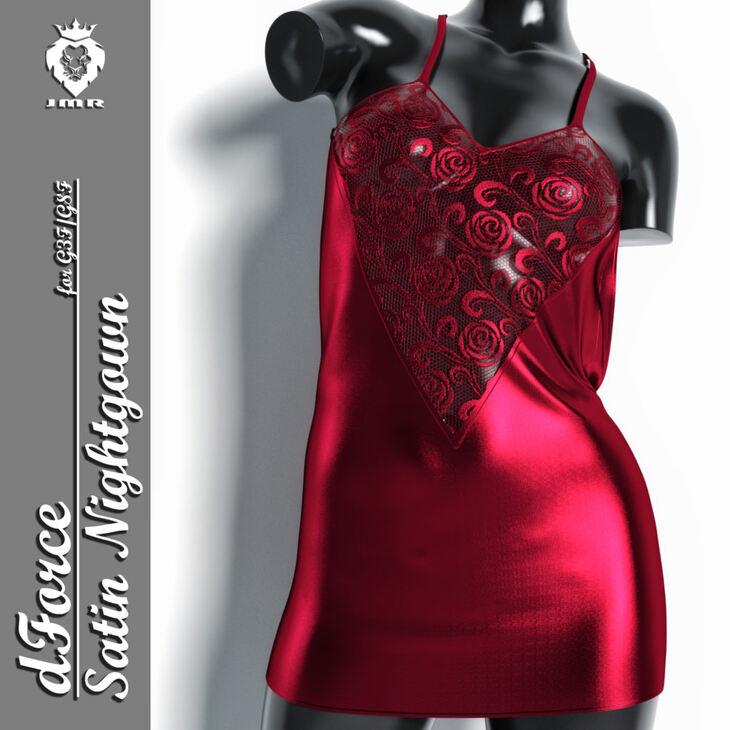JMR dForce Satin Nightgown