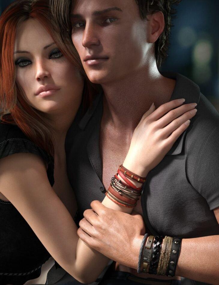 Leather Bracelets for Genesis 8 Male(s) & Female(s)