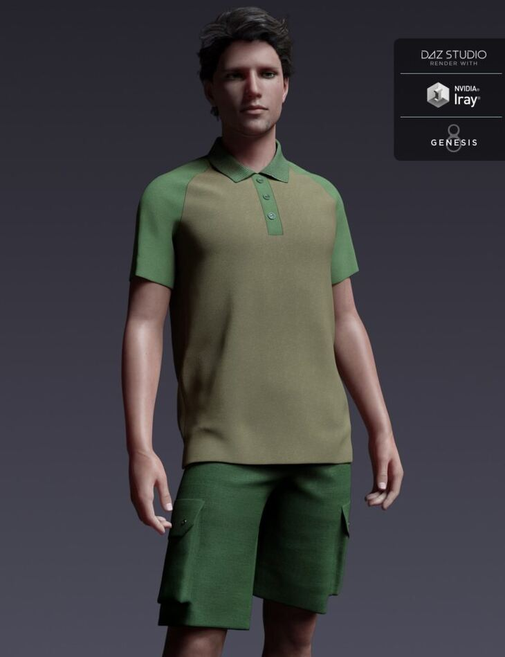 Leisure Sport Outfit for Genesis 8 Male