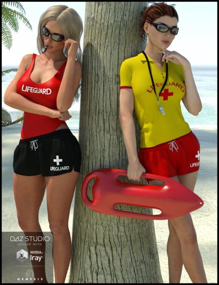 Lifeguard Uniform for Genesis 3 Female(s)