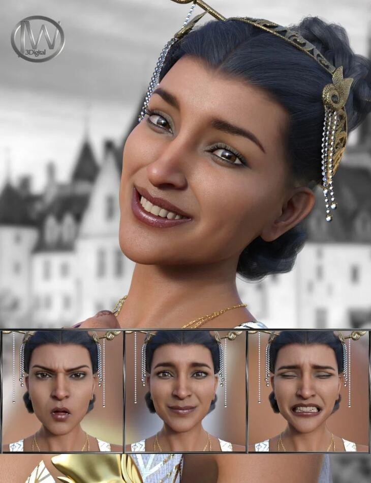Like a Princess - Expressions for Genesis 8 Female and Kala 8