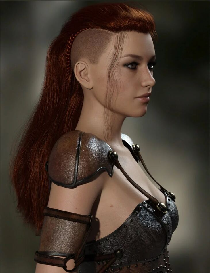 MRL Warrior Hair for Genesis 8 Female