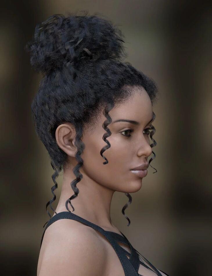 MRL dForce Curly Bun for Genesis 8 Female(s)