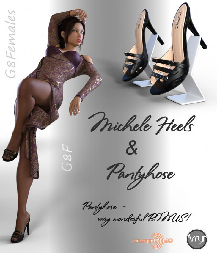 Michele Heels and Pantyhose G8F