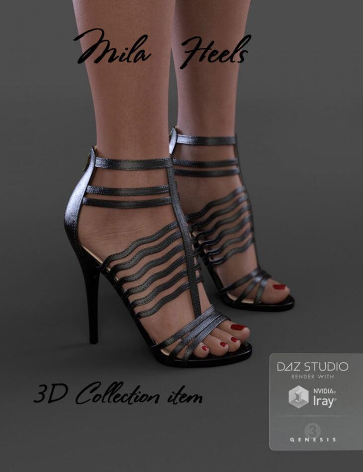 Mila Heels for Genesis 3 Female(s)