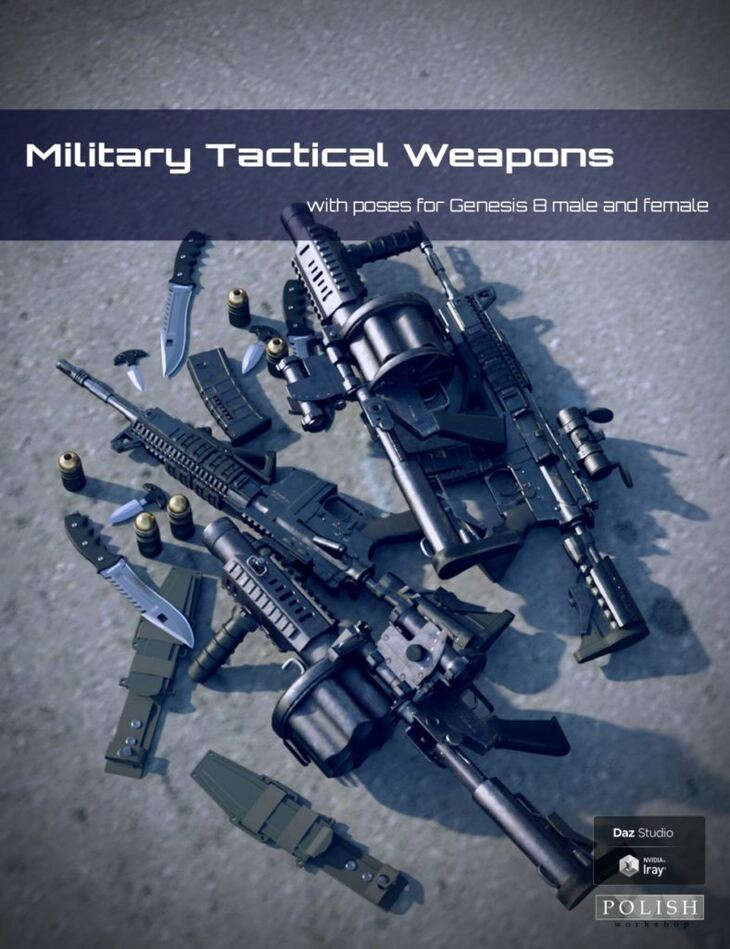 Military Tactical Weapons and Poses for Genesis 8