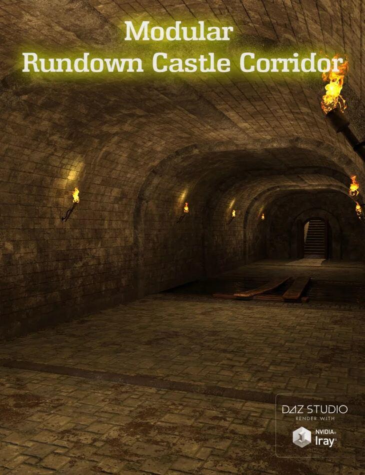 Modular Rundown Castle Corridor