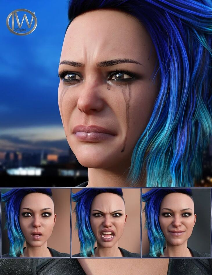 Mysterious - Expressions for Genesis 8 Female