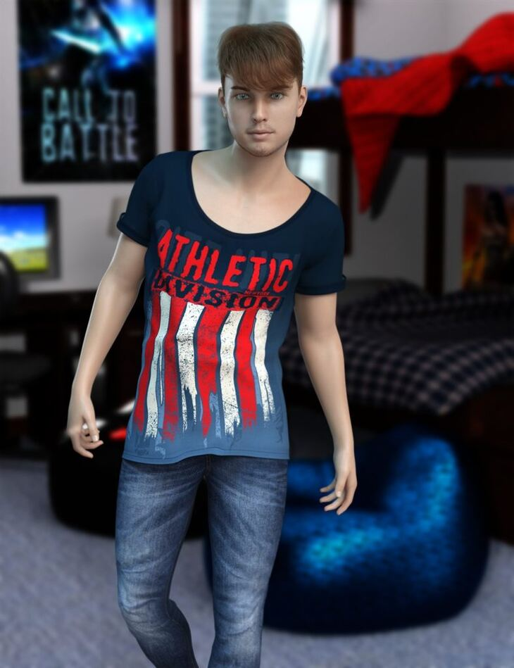 Nathanial HD for Genesis 8 Male