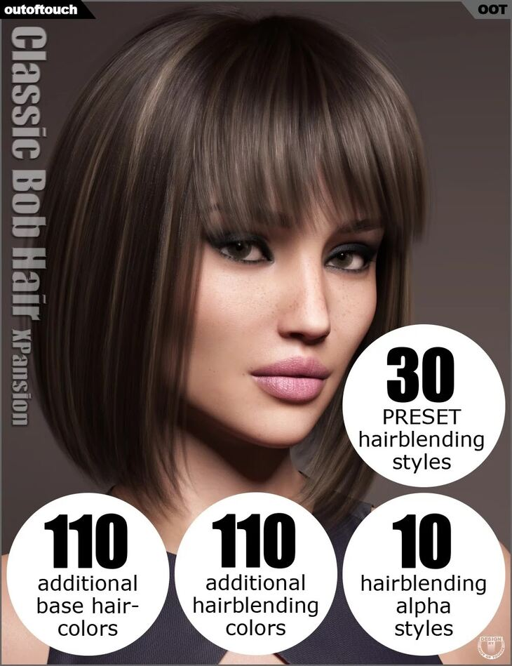 OOT Hairblending 2.0 Texture XPansion for Classic Bob Hair