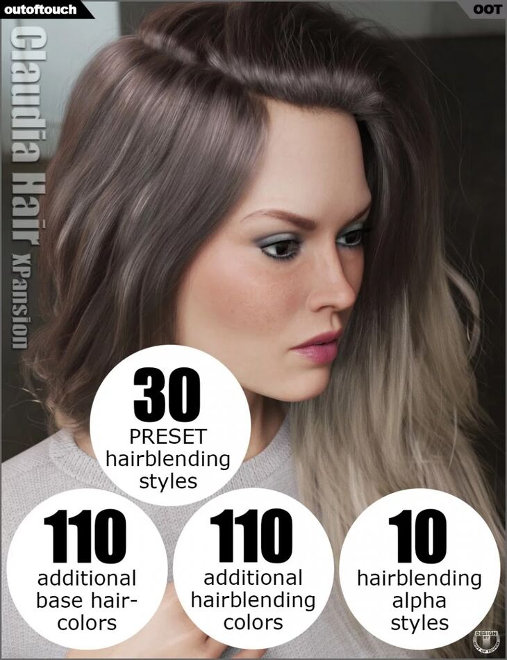 OOT Hairblending 2.0 Texture XPansion for Claudia Hair