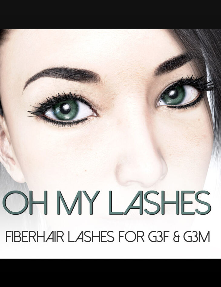 Oh My Lashes Fiberhair Eyelashes for G3F & G3M