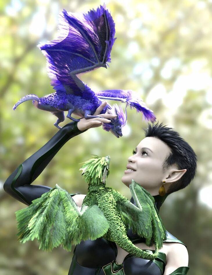 Oso Pixie Dragon for Daz Dragon 3