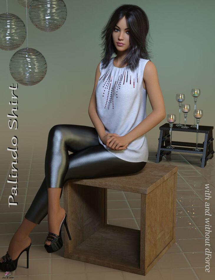 Palindo Shirt for Genesis 8 Females