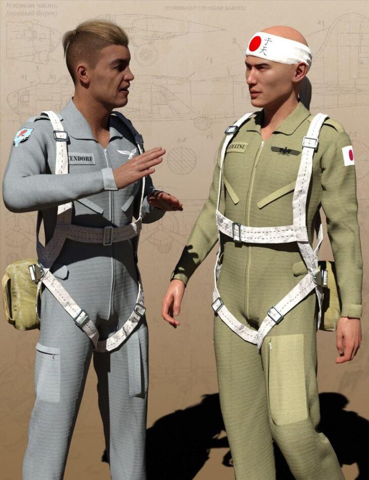 Pilot Uniform Materials of WWII