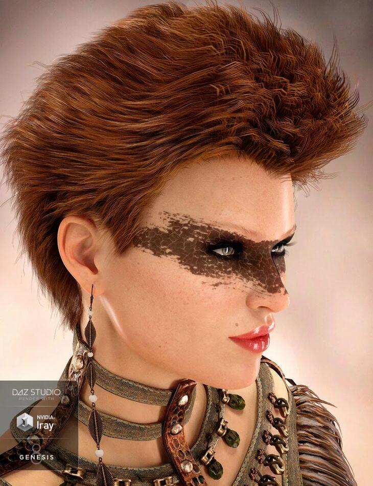 Ping Hair for Genesis 8 and Genesis 3 Female(s)