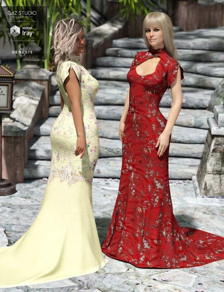 Polyantha Rose Dress Textures