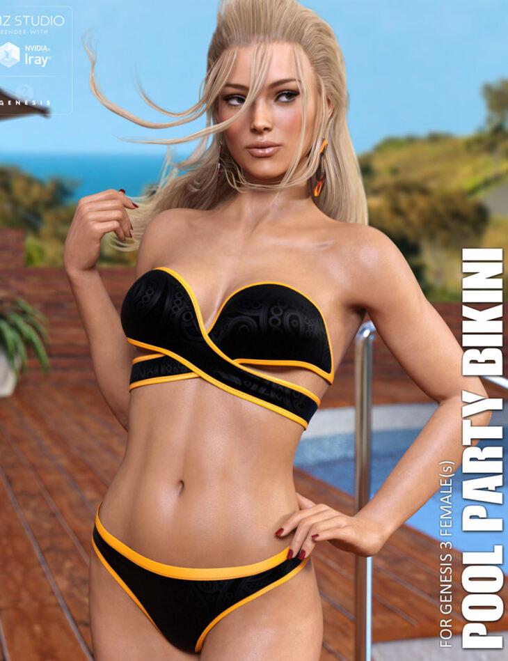 Pool Party Bikini for Genesis 3 Females
