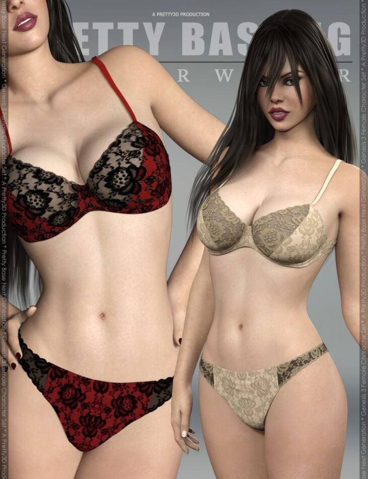 Pretty Base NG Underwear for Genesis 3 Female(s)