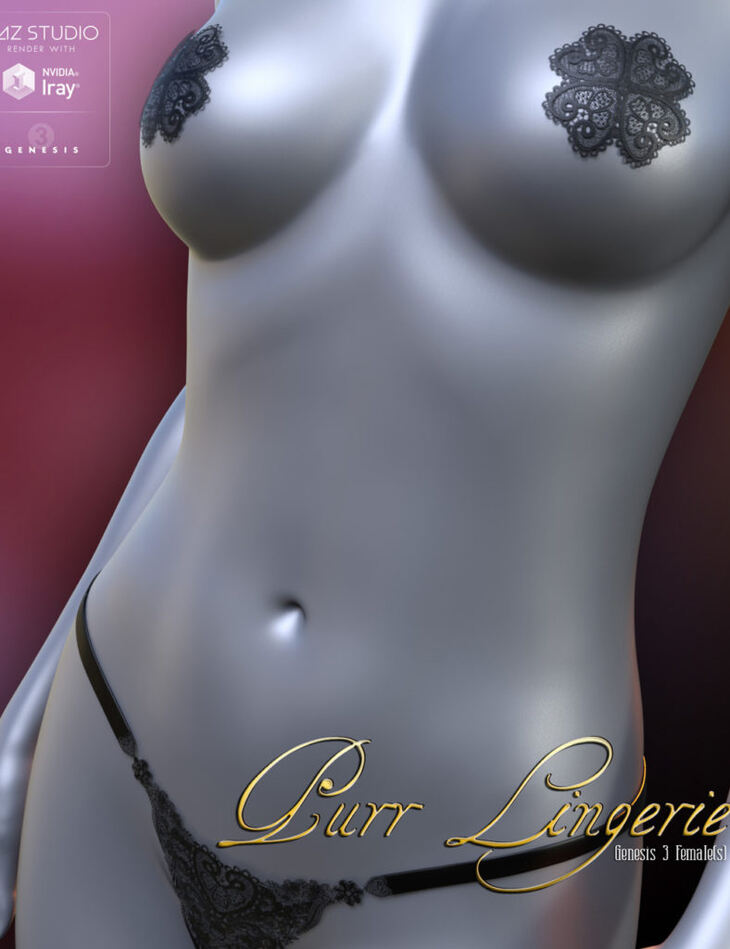 Purr Lingerie for Genesis 3 Female(s)