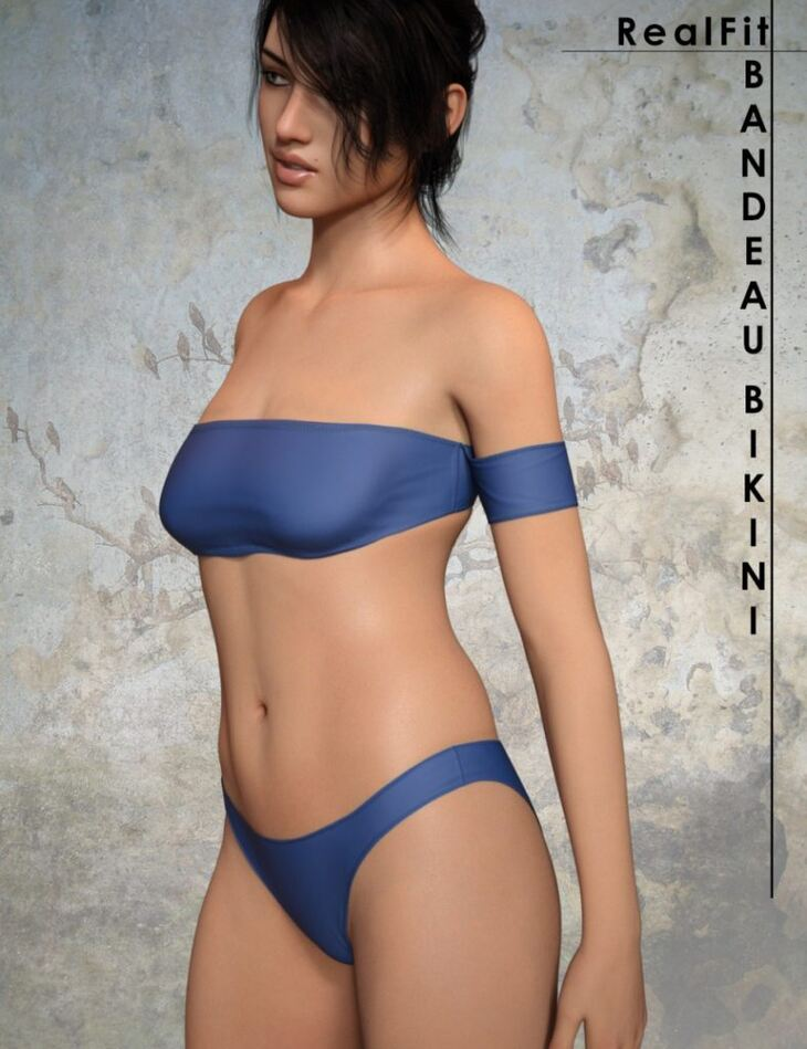 RealFit Bandeau Bikini for Genesis 8 Female(s)