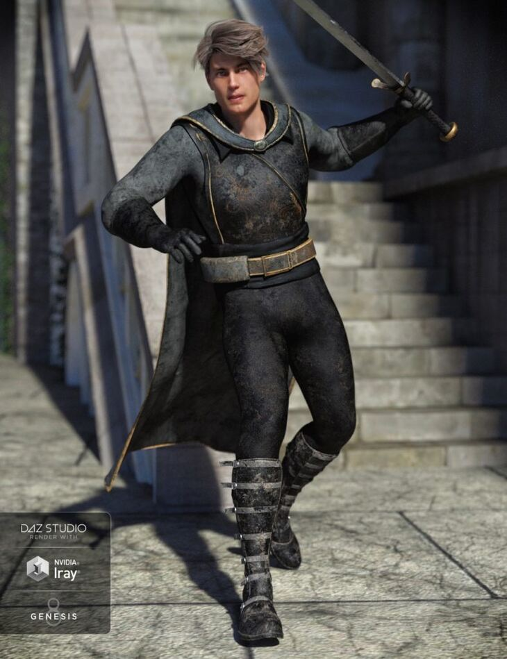 Rogue Hunter Outfit for Genesis 8 Male(s)
