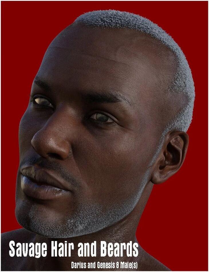 Savage Hair and Beards for Darius 8 and Genesis 8 Male(s)
