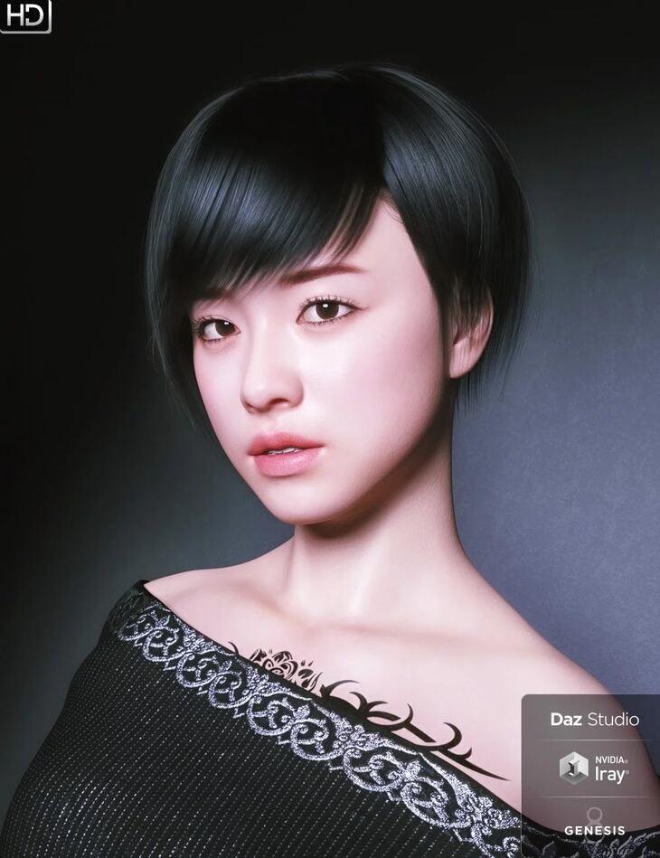 Saya HD Character And Hair for Genesis 8 Female
