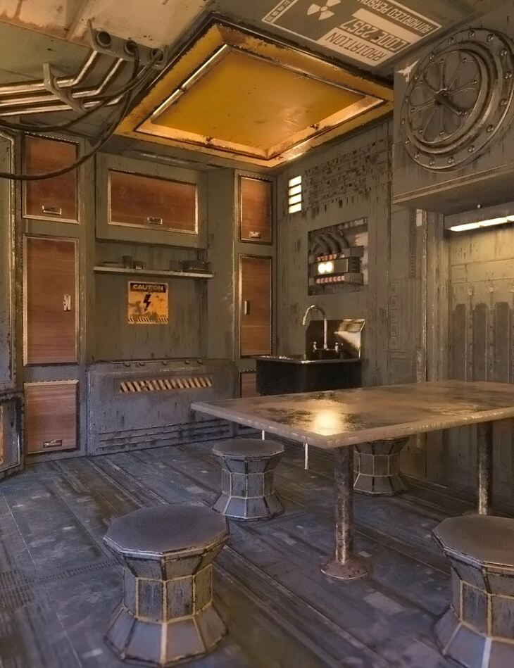 SciFi Living Galley