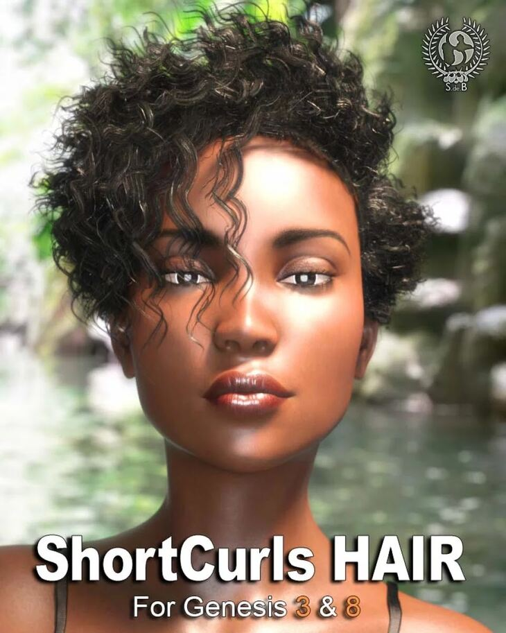 Short Curls Hair for Genesis 3 and 8