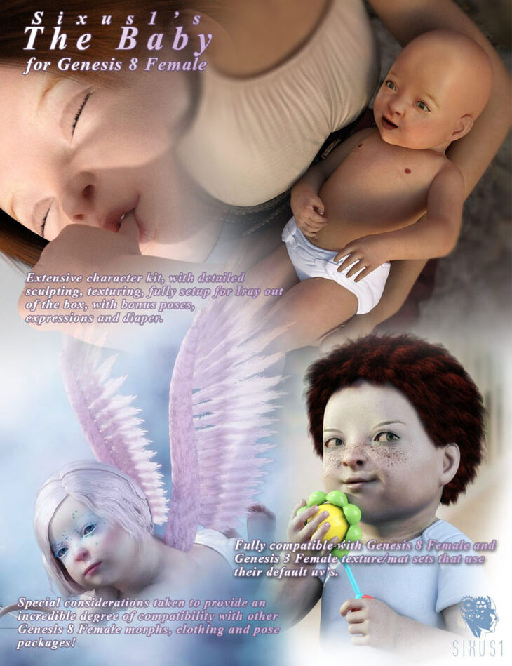 Sixus1 - The Baby for Genesis 8 Female