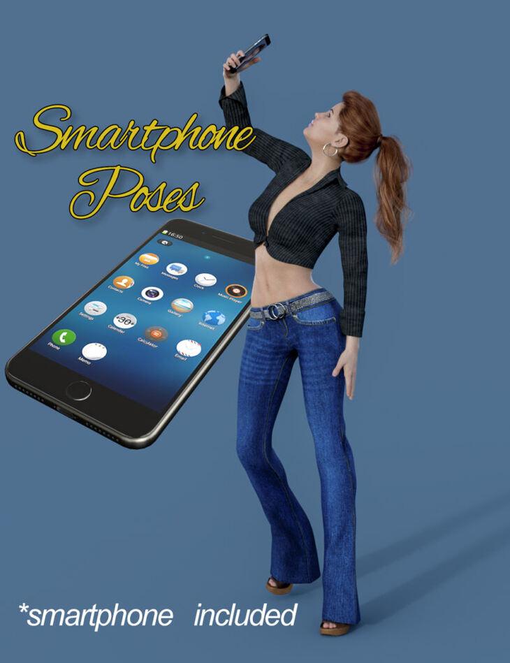 Slide3D Smartphone Poses for Genesis 8 Females