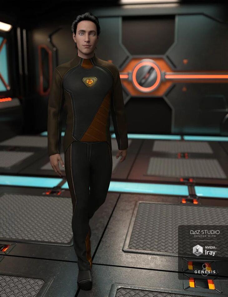 Space Explorer Uniform for Genesis 8 Male(s)