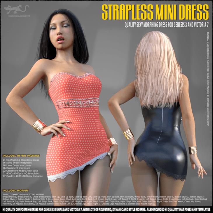 Strapless Mini Dress for G3 and V7