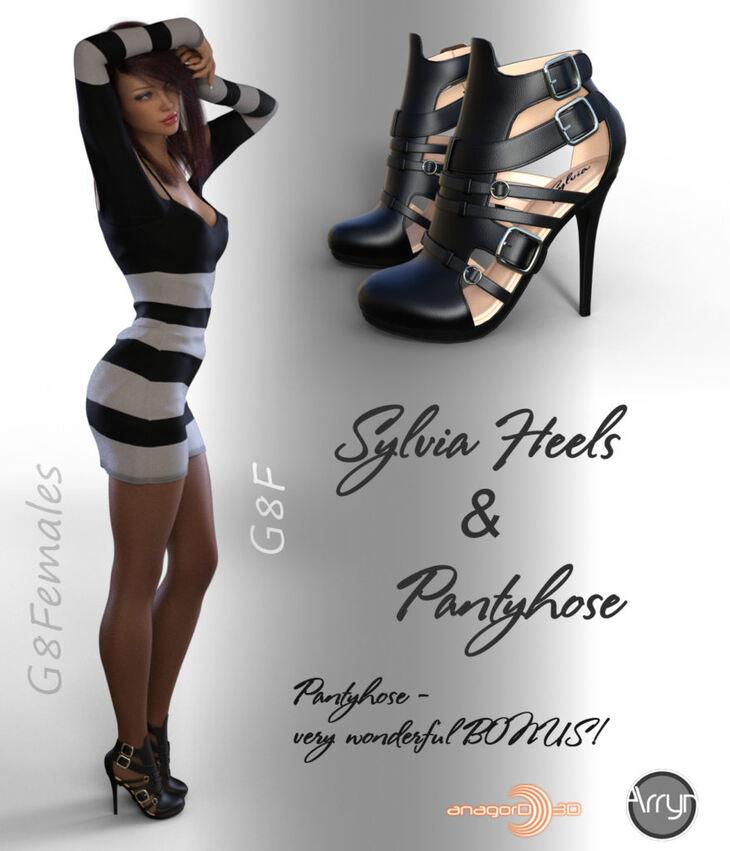 Sylvia Heels and Pantyhose G8F