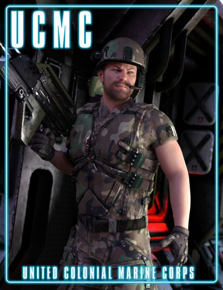 UCMC Add-on for ATLAS Armored Suit for Genesis 8 Male