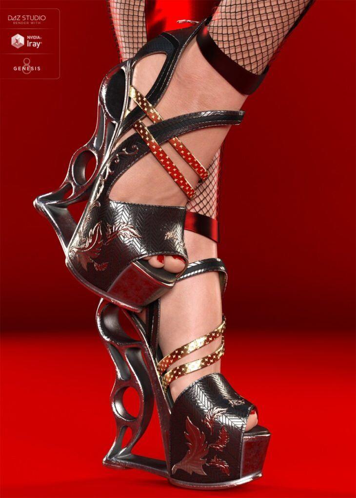 VXZ3 Heels for Genesis 8 Female(s)