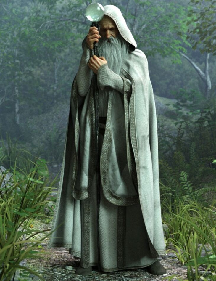 Wise Wizard Poses and Magic Props for Genesis 8 Male(s)