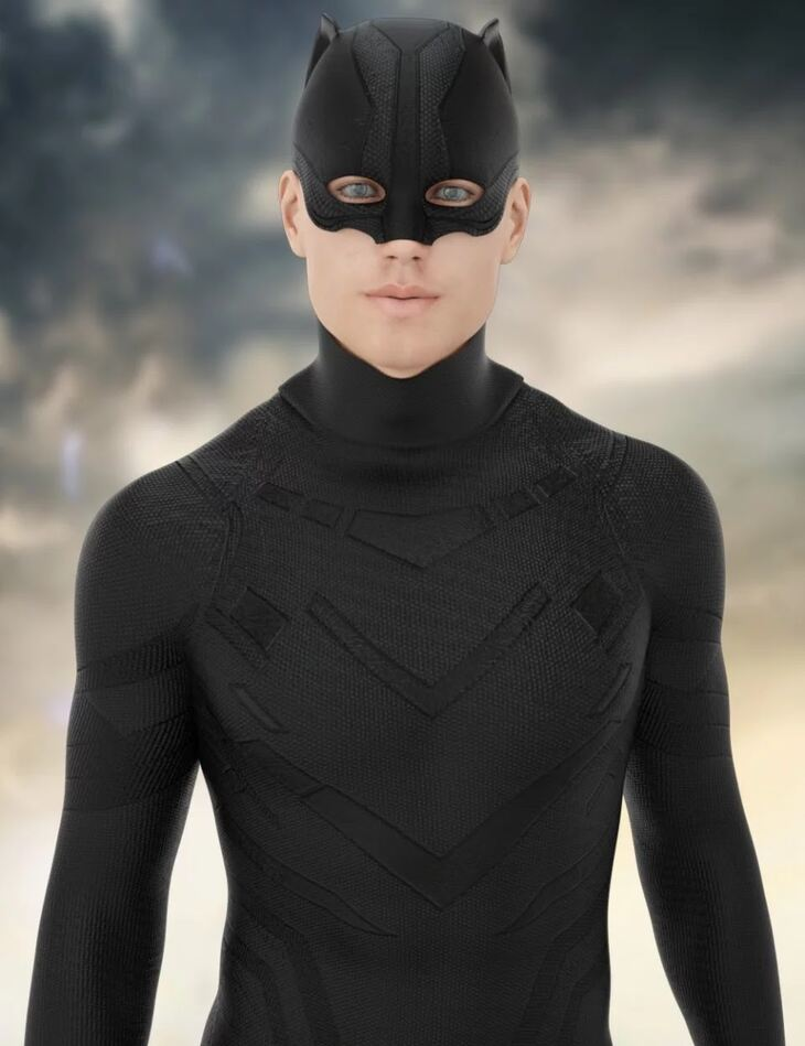 X-Fashion Dark Cat Outfit for Genesis 8 Male(s)