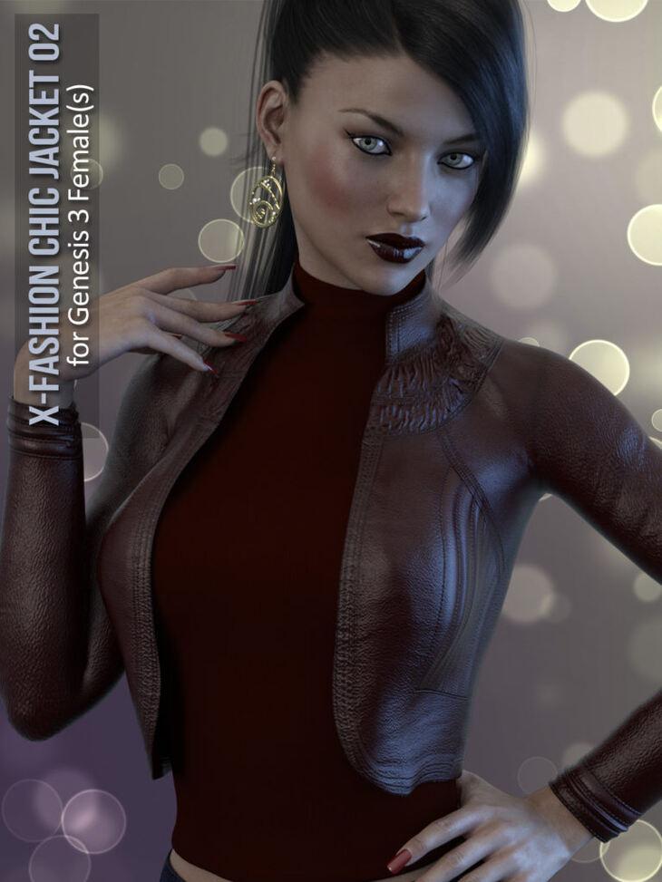X-Fashion Chic Jacket for Genesis 3 Female(s)
