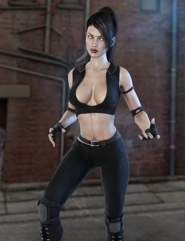 X-Fashion Combat Outfit for Genesis 3 Female(s)