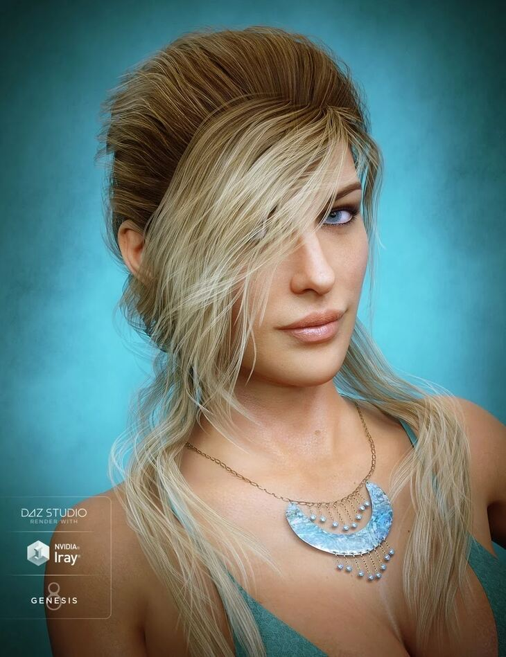Young Grace Hair for Genesis 8 Female(s)
