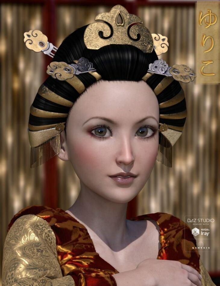 Yuriko Hair for Genesis 3 Female(s)
