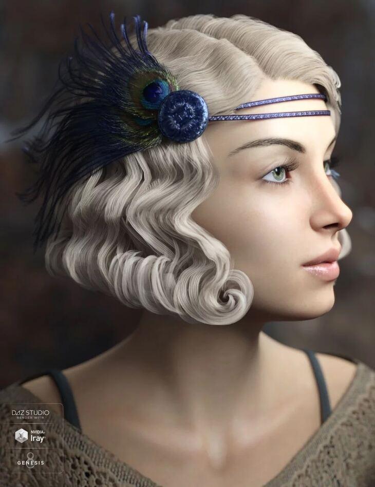 Zarah Hair for Genesis 3 & 8 Female(s)