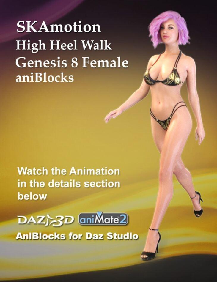 aniBlock High Heel Walk for Genesis 8 Female(s)