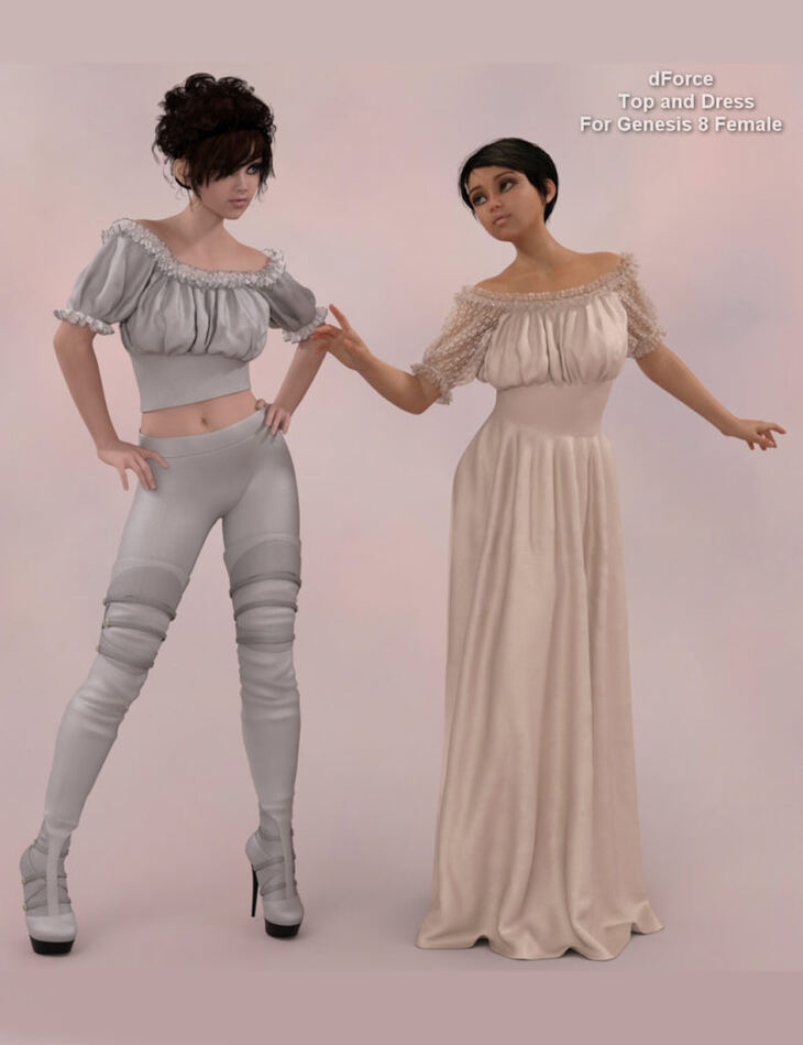 dForce - Wench Top and Dress for G8F